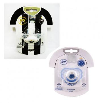 Chupeta Clean Redondo T2 Cruzeiro ou Atlético - Kids Gol